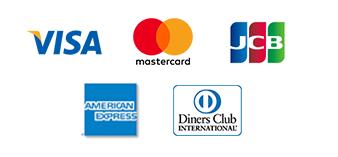 VISA・mastercard・JCBなどのクレジットカード